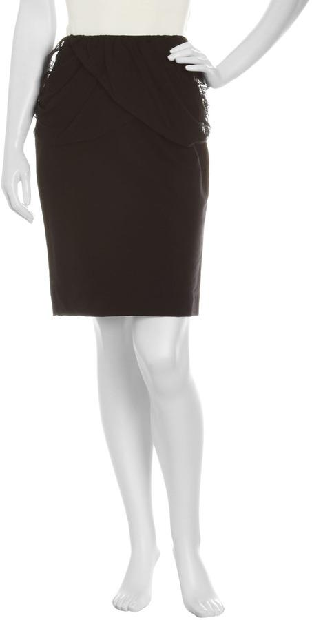 Just Cavalli Gathered-Yoke Skirt