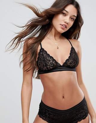 Asos Maddie Pretty Everyday Elastic Lace Triangle Bra