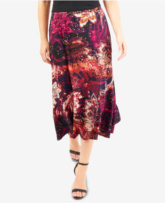 NY Collection Midi Skirt