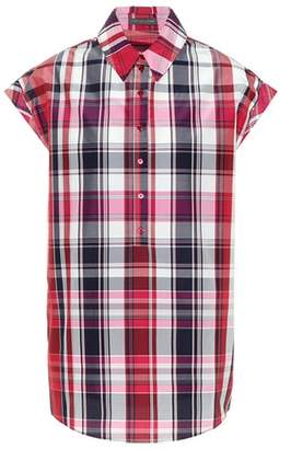 Alexander McQueen Checked cotton and silk shirt