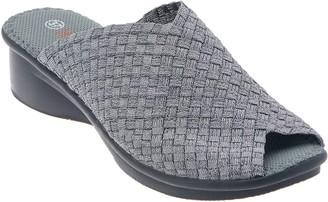 Bernie Mev. Basket Weave Peep-Toe Wedge Sandals - Cyrene