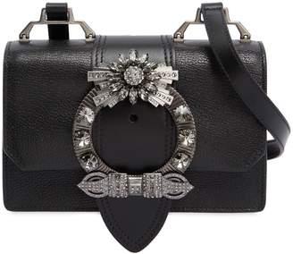 Miu Miu Miu Lady Shoulder Bag W/ Crystal Buckle