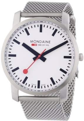Mondaine Unisex A6383035016SBM Simply Elegant Silver-Tone Stainless Steel Watch