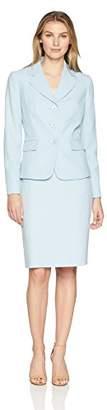 Le Suit Women's Novelty 1 BTN Notch Collar Skirt