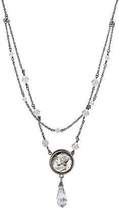 American Coin Treasures Mercury Dime Crystal Beaded Necklace