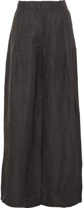 Tomas Maier Pleated Woven Wide-leg Pants