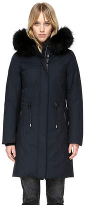 Mackage ENIA MID LENGTH WINTER DOWN COAT WITH FUR