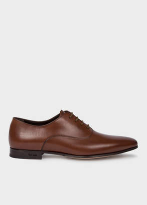 Paul Smith Men's Dark Tan 'Fleming' Calf Leather Oxford Shoes