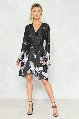 Nasty Gal Empty Nest Wrap Dress