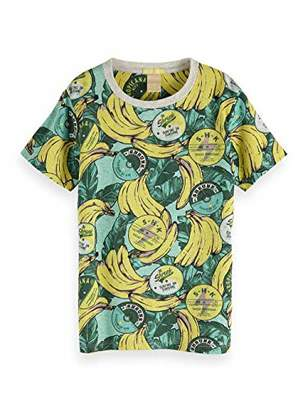 Scotch & Soda Shrunk Boy's All-Over All-Over Printed Tee T-Shirt,(Size: 10)