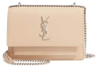 Saint Laurent Sunset Leather Wallet on a Chain