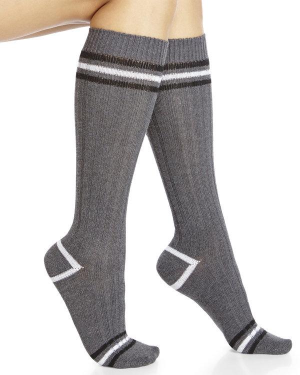 legale Two-Pack Varsity Stripe Knee-High Socks
