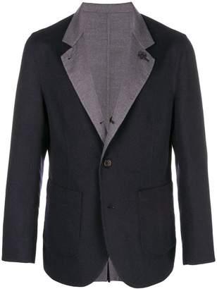 Brunello Cucinelli contrast collar blazer