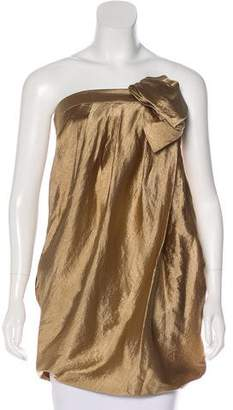 3.1 Phillip Lim Metallic Strapless Tunic