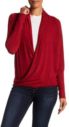 Papillon Gathered Accent Plunge Sweater