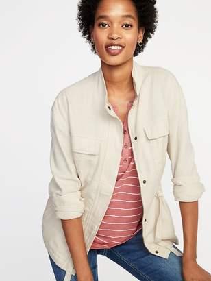 Old Navy Linen-Blend Utility Jacket for Women