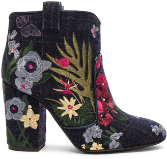 Laurence Dacade Embroidered Wool Pete Booties $950 thestylecure.com