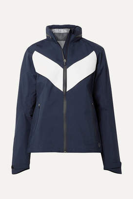 Tory Sport All-weather Run Hooded Paneled Shell Jacket - Navy