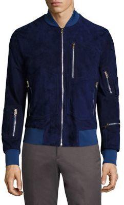 Paul SmithPaul Smith Multi-Zip Suede Jacket