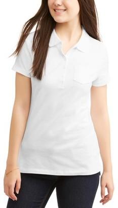 No Boundaries Juniors' Short Sleeve Polo Shirt