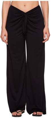 Kenneth Cole Frenchie Solids Tie Front Pant Cover-Up Women's Swimwear