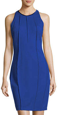 T Tahari Bristol Beaded-Choker Ponte Dress
