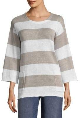 Eileen Fisher Striped Knit Pullover