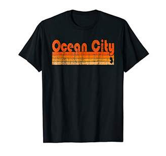 Retro 80s Style Ocean City NJ T-Shirt
