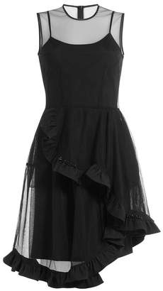Simone Rocha Dress with Sheer Ruffled Tulle Overlay