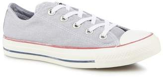 Converse Pale Grey Canvas 'All Star Ox' Lace Up Trainers