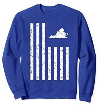 Virginia Cracked American Flag State Pride Sweatshirt