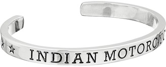 King Baby Studio - Indian Motorcycle Engraved Logo Cuff Bracelet $470 thestylecure.com