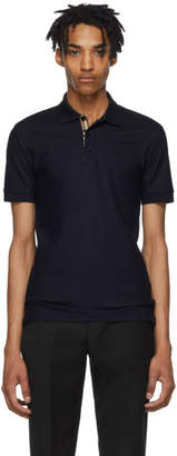 Burberry Navy Monogram Polo