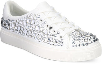 ALDO Zellina Jewel Embellished Lace-Up Sneakers $75 thestylecure.com