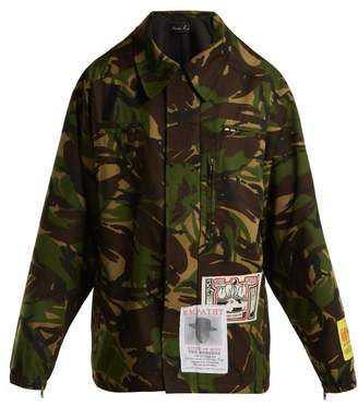Martine Rose Camouflage Cotton Blend Jacket - Womens - Camouflage