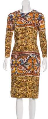 Dolce & Gabbana Printed Long Sleeve Dress w/ Tags