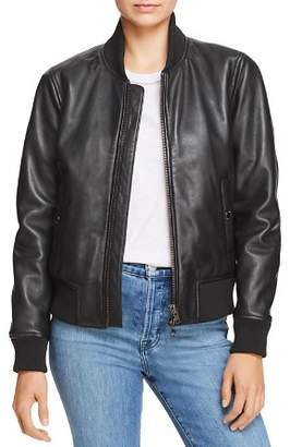 Hudson Leather Bomber Jacket