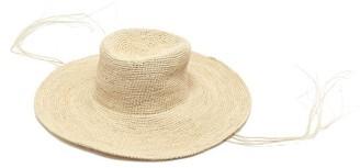 Greenpacha Tulum Wide Brim Straw Hat - Womens - Beige