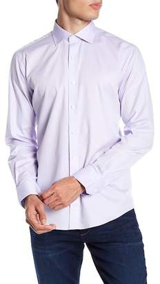 Bugatchi Long Sleeve Solid Shaped Fit Woven Shirt