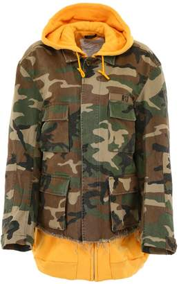 R 13 Camouflage Jacket With Hoodie