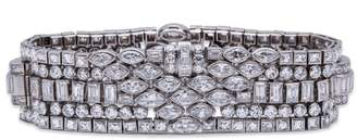 La Cloche Frères Platinum & 33ct Diamond Bracelet