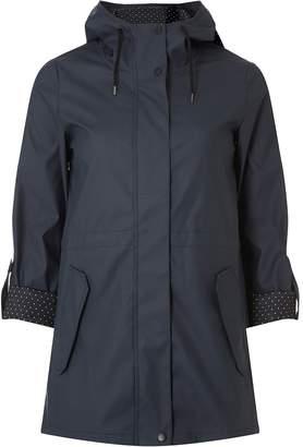 Dorothy Perkins Womens Petite Navy Rain Coat