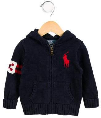Polo Ralph Lauren Boys' Hooded Zip-Up Cardigan