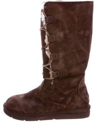 UGG Australia Whitley Lace-Up Boots $95 thestylecure.com