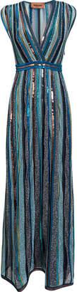 Missoni Cross Front Blue Sequin Dress