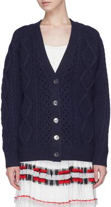 3.1 Phillip Lim Aran cable knit wool cardigan