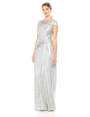 Tadashi Shoji Women's c/s Sequin Pintuck Gown, L