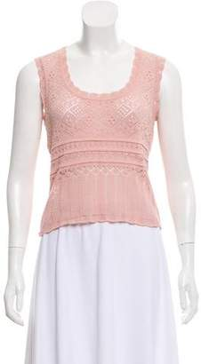 Christian Dior Sleeveless Open Knit Sweater