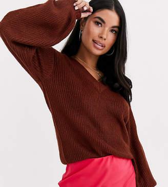 Brave Soul Petite harrio jumper in brown