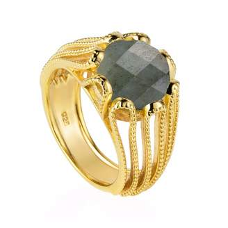 Neola - Alessia Gold Cocktail Ring with Labradorite